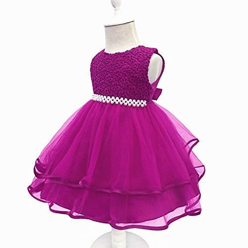 Baby Girls Dress 0-24 Month Baby Lace Baptism Princess Sleeveless Baby Girls 1St Year Birthday Dress Birthday Party Vestido Purple1 18M]()