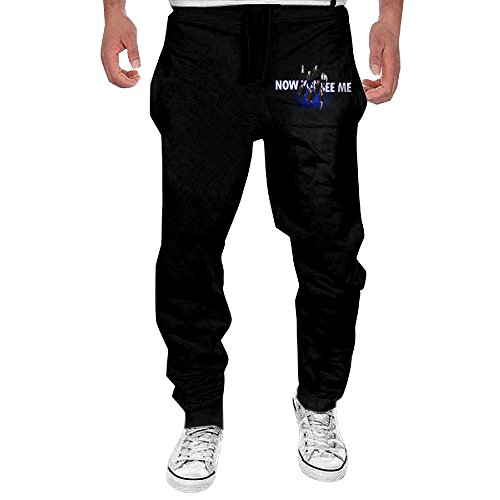 Men's Now You See Me Comfortable Jersey Sweatpants Black L
