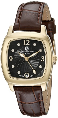 Charles-Hubert, Paris Women's 6907-G Premium Collection Analog Display Japanese Quartz Brown Watch