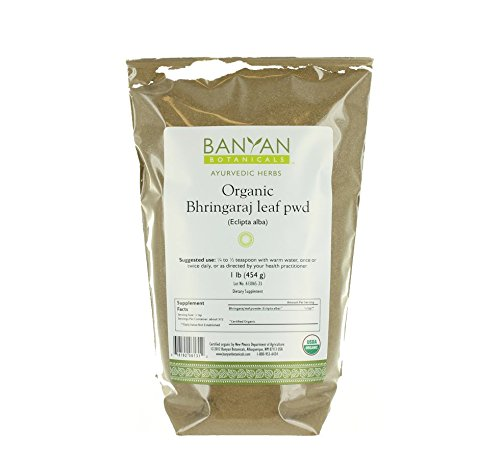 Banyan Botanicals Bhringaraj Powder - Certified Organic, 1 Pound - Eclipta alba - The quintessential Ayurvedic herb for the hair and an excellent rejuvenative for pitta*,
