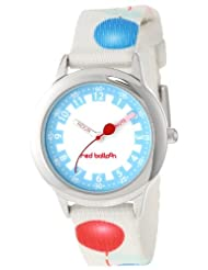 Red Balloon Kids' W000187 Printed Strap Stainless Steel Time Teacher Watch