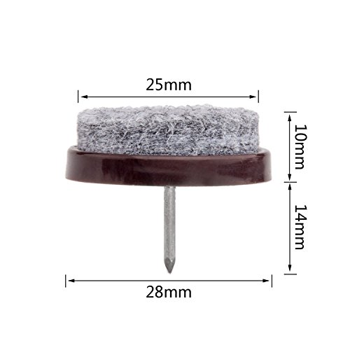 tools & home improvement, hardware, furniture hardware,  furniture pads  discount, 50pcs Round Heavy Duty Felt Furniture Pads,Ulifestar Nail On Furniture Sliders Hardwood Floor Protectors for Chair Table Desk Desser Cabinet Sofa Couch Leg Feet Non Slip Glides Dia 28mm/1.1'' (Brown) deals5