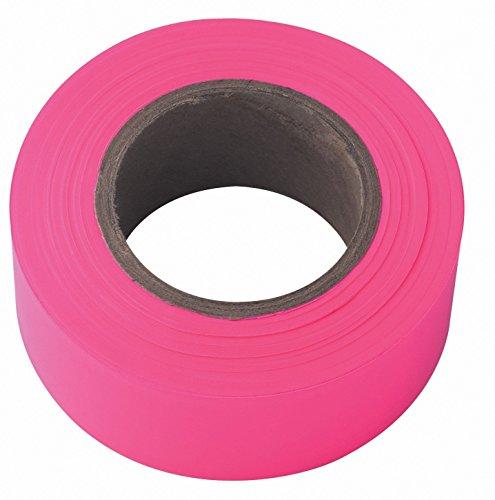(12 Pack Irwin 65603 Strait-Line 150' Pink-Glo Fluorescent Flagging Tape)
