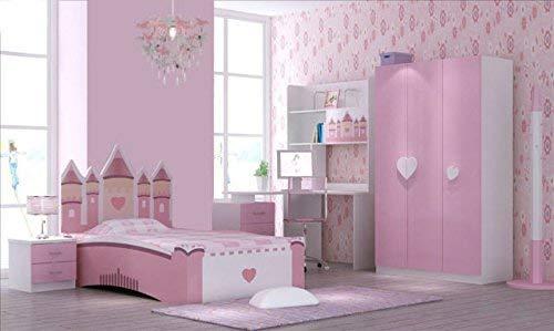 Abat-Jour Licorne pour Enfants Chambre Fille Rose Violet et Argent Lumi/ère Ombre Lampe