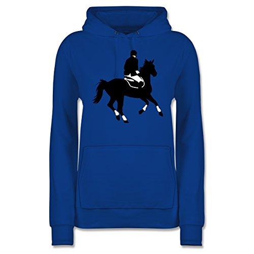 Reitsport - Dressur Pferd Reiter Dressurreiten - Damen Hoodie Royalblau 3La9MSp