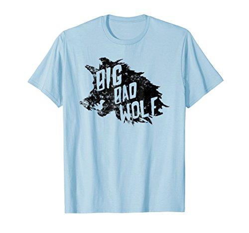 Mens Big Bad Wolf Halloween Costume T-shirt Medium Baby Blue -