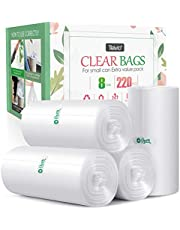 4 Gallon 220 Counts Strong Trash Bags Garbage Bags by Teivio, Bin Liners, for home office kitchen, Clear