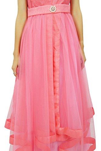 Flared Dress Long Bimba Bridal Pink Dress Peach Maxi Bridesmaid Wear Party Prom Bpq4qxgO