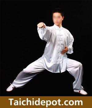 "Tai Chi Uniform (Clothing) - White, Red, Blue and Black (X-Small (4'8"" - 5'1"" & 90 - 110 lbs), White)"