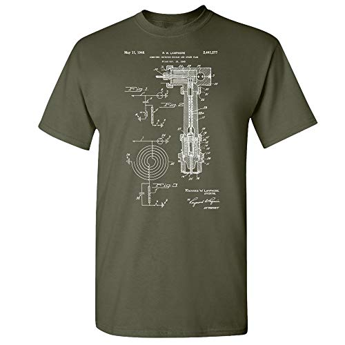 Fuel Injector T-Shirt, Mechanic Gift, Repair Shop, Car Parts, Automotive Engineer, Body Shop, Gearhead, Car Lover Military Green (Large)