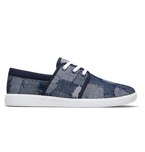 DC Shoes Haven TX Le - Baskets pour Femme ADJS700047 Bleu - Blue/Blue/White