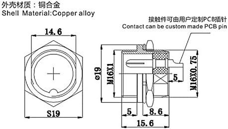 Clyxgs GX16 5 Pins Panel Metallmontage Rund Metall Aviation Stecker Adapter M/ännlich Weiblich Steckdose 5 St/ücke