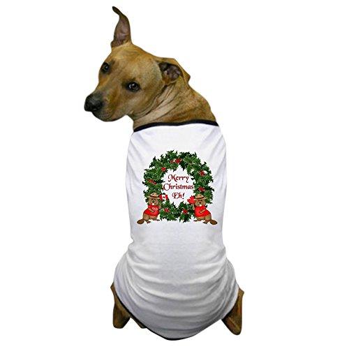 - CafePress - Canadian Christmas Dog T-Shirt - Dog T-Shirt, Pet Clothing, Funny Dog Costume