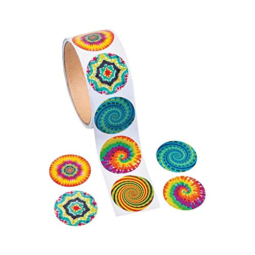 (Fun Express Psychedelic Roll Stickers (100 Stickers per)