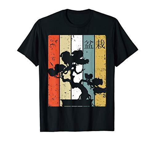 (Sunset Retro Vintage Japanese Bonsai Tree T-Shirt)