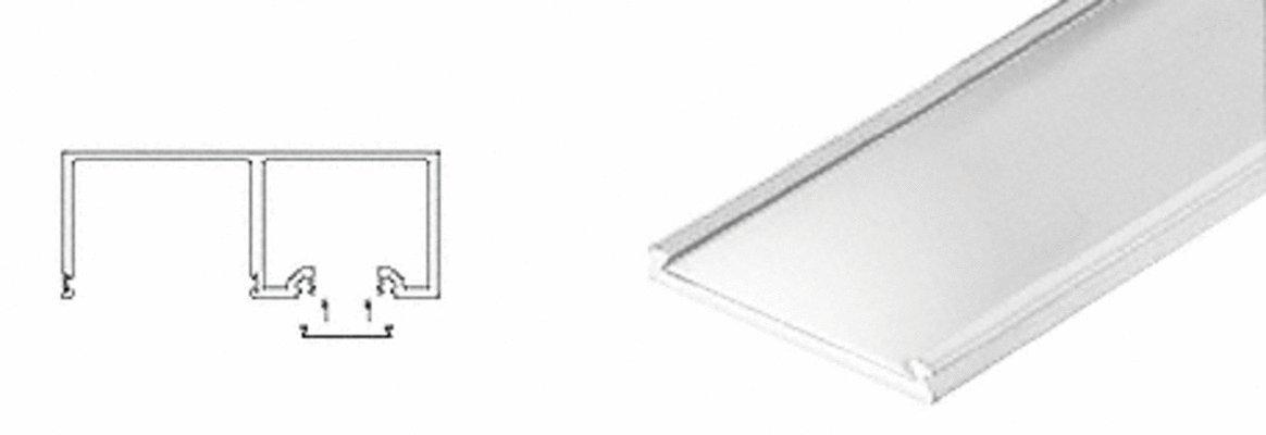 Polished Stainless Header Snap-In Filler - 120'' Length