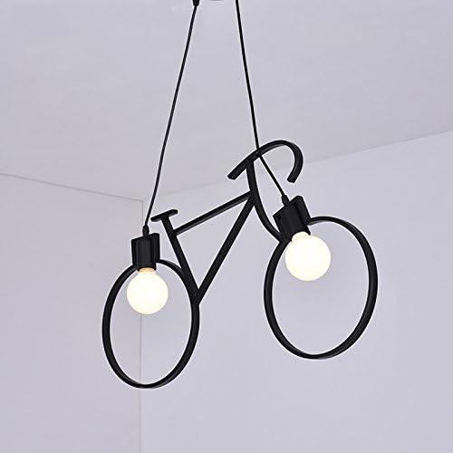Lámparas de araña Creativo Metal bicicleta colgante de luz ...