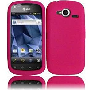 Quaroth - Hot Pink Silicone Jelly Skin Case Cover for Pantech Burst P9070