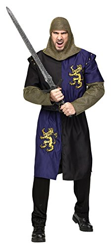 Medieval Outfit (UHC Men's Medieval Renaissance Camelot Knight Warrior Outfit Halloween Costume, OS)