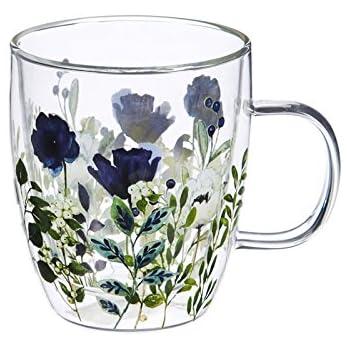 Amazon Com Cypress Home Sundance Glass Coffee Cup 12