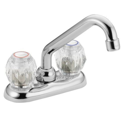 Moen 4975 Chateau Two-Handle Low Arc Laundry Faucet, Chrome