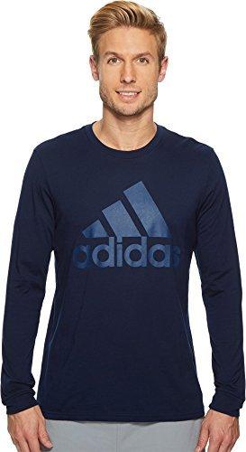 adidas Men's Badge of Sport Classic long-sleeve Tee, Collegiate Navy/Noble Indigo, (Collegiate Long Sleeve Tee)