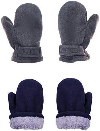 2 Paris ERISO Baby Winter Gloves Warm Lined Fleece Toddler Boys Girls Mittens