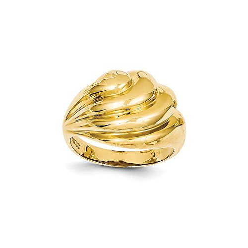 Best Birthday Gift 14k Polished Swirl Dome Ring (Swirl Polished Dome Ring)
