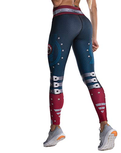 Drakon Many Styles of Crossfit Leggings Women Colombian Yoga Pants Compression Tights (Captain America),One Size