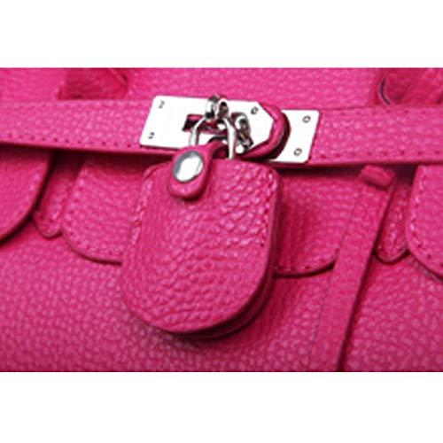 Hombro Bags Mujer Shoulder Audburn Casual Negro Gran Bolsos De Cuer Totalizador Capacidad 6xnwpRHn