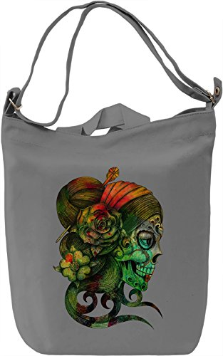 Lady Of Skull Borsa Giornaliera Canvas Canvas Day Bag| 100% Premium Cotton Canvas| DTG Printing|