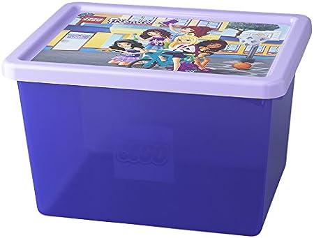 Room Copenhagen 4094 Caja Grande de Almacenamiento de Lego Friends de 18 l, Apilable, Morado translúcido, Lavender, 37.8 x 29.7 x 23.5 cm: Amazon.es: Hogar