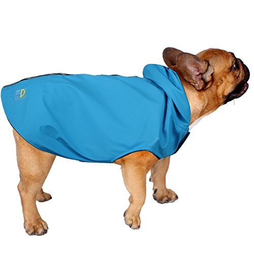 679157f0c182b American Kennel Club Jelly Wellies Premium Quality Waterproof Reflective  Deluxe Raincoat with Polar Fleece Lining for Dogs- X-Small, Blue