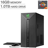HP Pavilion Power 580-137C Gaming Desktop with AMD Eight Core Ryzen R7-1700 / 16GB / 1TB / Win 10 / 4GB Video - Factory Reconditioned