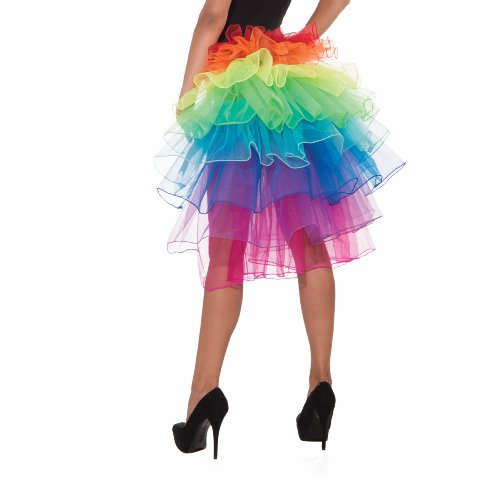 Rainbow Bright Costumes (Forum Rainbow Fantasy Bustle, Multi, Standard)