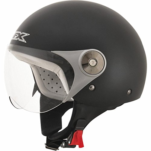 AFX FX33-Y Unisex-Child Open-Face-Helmet-Style Helmet (Scooter Black, Large)