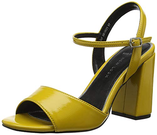 Col Look Giallo 87 New Punta Tacco Timothy Wide Donna Yellow Scarpe Foot Aperta dark ZXdwAdq