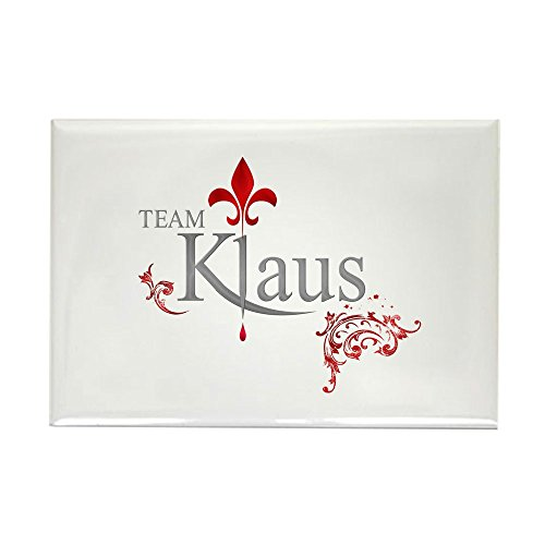 Magnet Rectangle Red (CafePress TVD Team KLAUS Silver Red Rectangle Magnet, 2