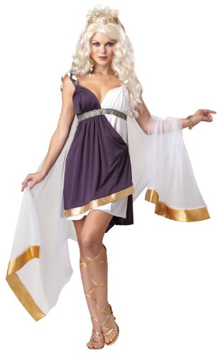 California Costumes Women's Venus Goddess Of Love Adult, Purple/White, Medium