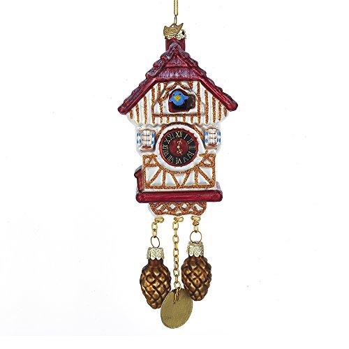 Kurt S. Adler Noble Gems Cuckoo Clock Glass Ornament from Kurt Adler