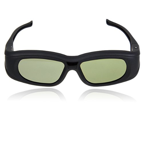 Active 3D Shutter Glasses IR Bluetooth for Panasonic Sony Sharp Samsung LG Toshiba 3D TVs with Rechargeable Lithium-ion Battery (Black)