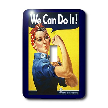 3dRose LLC lsp_39022_1 Vintage Wow Ii Rosie Poster Single Toggle Switch