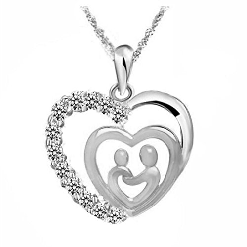 Sunward Fashion Mother's Day New Gifts Cute Necklace Mom and Children Necklaces Baby Necklace ()
