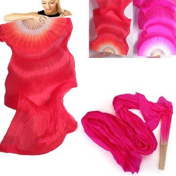1.8M Lengthen Belly Dance Fan Silk Bamboo Fans Dance Dancing Performance Supplies^. (Flower Dance Streamer compare prices)