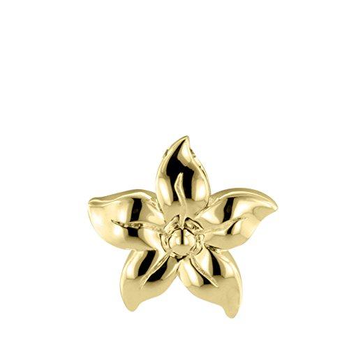Perfect Memorials Oleander Flower 14k Gold Vermeil Cremation Jewelry Vermeil Fancy Pendant