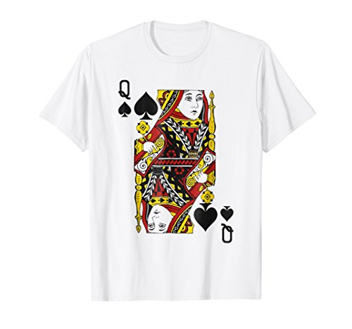 Queen of Spades Playing Card Poker Card Costume Gift Shirt