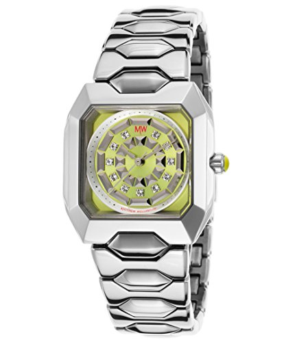Matthew Williamson Lbm33001-24 Women's Silver-Tone Base Metal Lime Green Dial Silver-Tone Base Metal - Williamson Matthew Shop