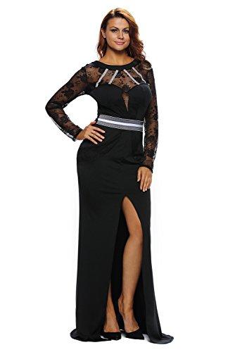Nuovo, da donna, in pizzo nero & strass abito da sera Abito da cocktail, da sera taglia S UK 8–10EU 36–38