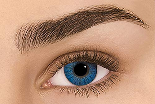 Women's multi-color cute charm and attractive color eye enhancer multi-color shadow, the most natural eye color change (Brilliant blue) (Eye Contacts Cosplay)