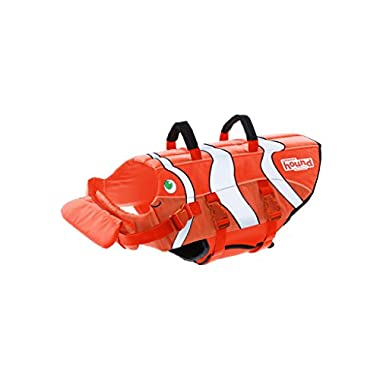 Dog Life Jacket Ripstop Life Jacket for Dogs by Outward Hound, Medium, Fun Fish